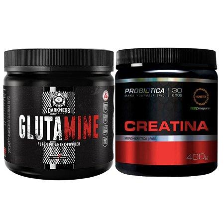Glutamina 350g Integral Médica + Creatina Creapure 400g - Probiótica