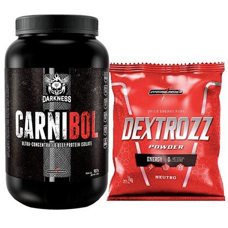 Carnibol 907g Salted Caramelo - Integral Medica + Dextrose 1kg Integral Medica