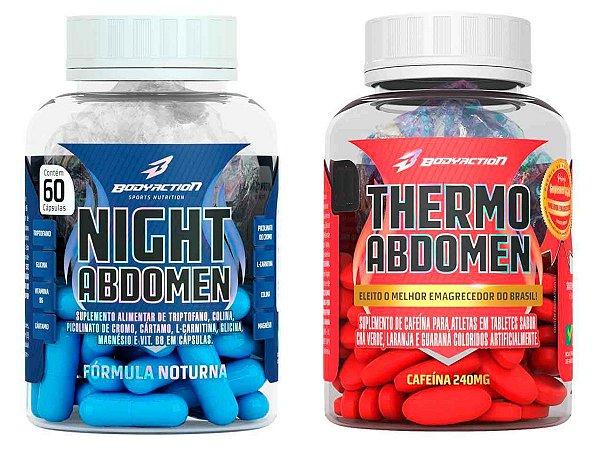Kit Seca Abdomen Day And Night - Thermo Abdomen 60 tabletes + Night Abdomen 60 caps - Bodyaction