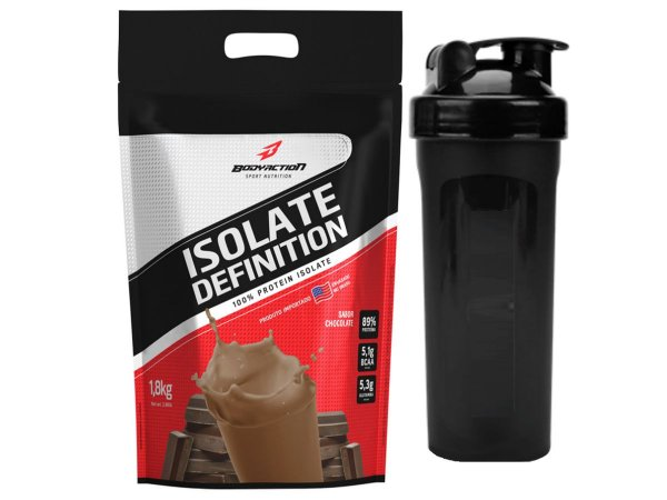Whey Isolate Definition (1.8kg) Body Action - Chocolate + Coqueteleira