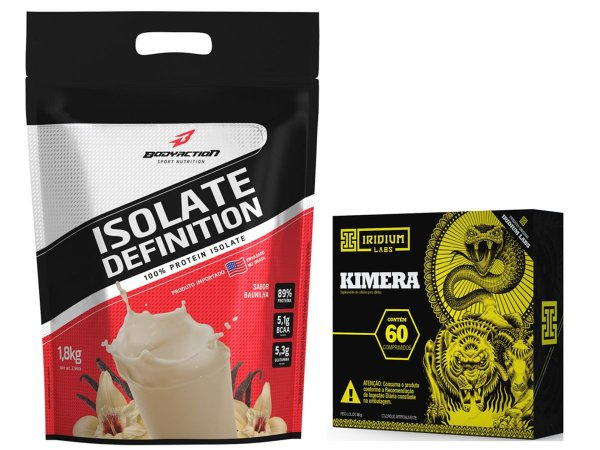 Whey Isolate Definition (1.8kg) Baunilha + kimera 60 Caps
