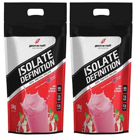 2x Whey Isolate Definition (1.8kg) Body Action - Morango
