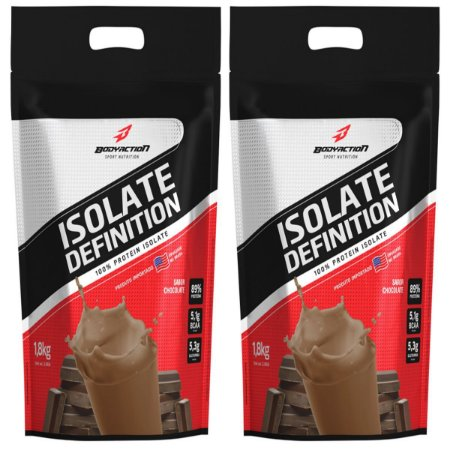 2x Whey Isolate Definition (1.8kg) Body Action - Chocolate