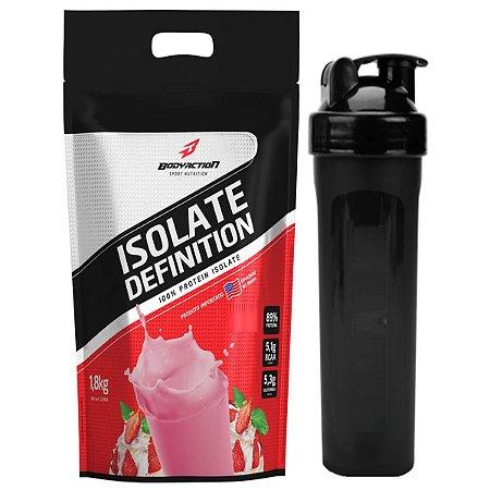 Whey Isolate Definition 1.8KG  - Bodyaction Sabor: Morango + Coquteleira