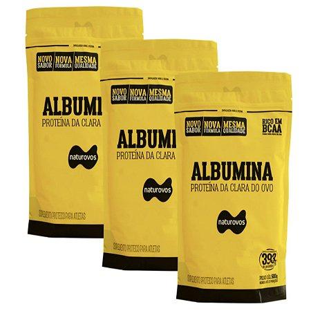 3x Albumina 500g  Baunilha - Naturovos