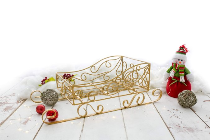 Trenó Foto Arabesco Newborn Natal Fotografia Acessórios ArteBrasil