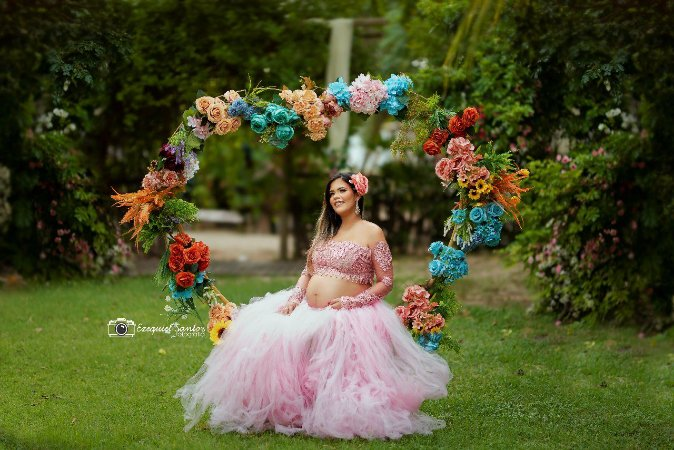 Coração Gestante Fotografia Props Decoração ArteBrasil