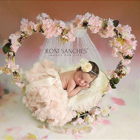 Coração newborn Fotografia Props Decoração ArteBrasil