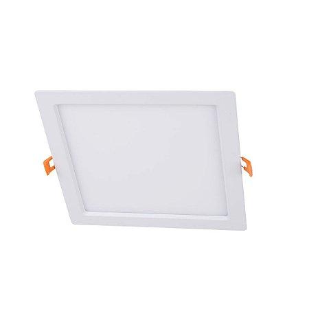 Painel de Embutir Quadrado 18W Plafon LED Dimerizável