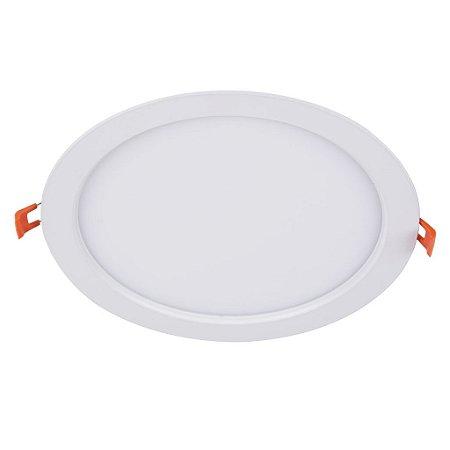 Painel de Embutir Redondo 6W Plafon LED - Bivolt