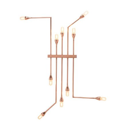 Arandela de Parede Fluso 10 Lampadas E27 - Klaxon