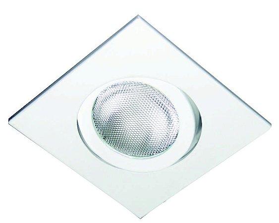 Spot Quadrado de Embutir Facho Direcionável para PAR20 sem Lâmpada