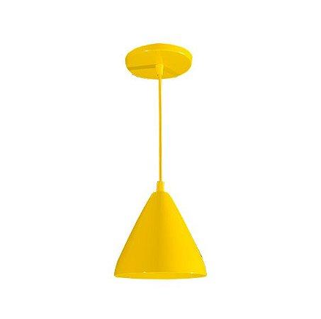 Pendente de Teto Decorativo Cor Amarelo Bocal E-27