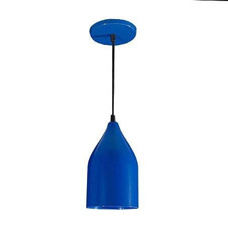 Pendente de Teto Decorativo Cor Azul Bocal E-27