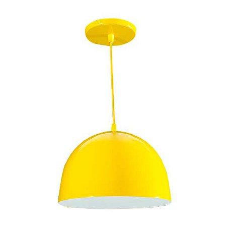 Pendente de Teto Decorativo Meia Lua Cor Amarelo Bocal E-27