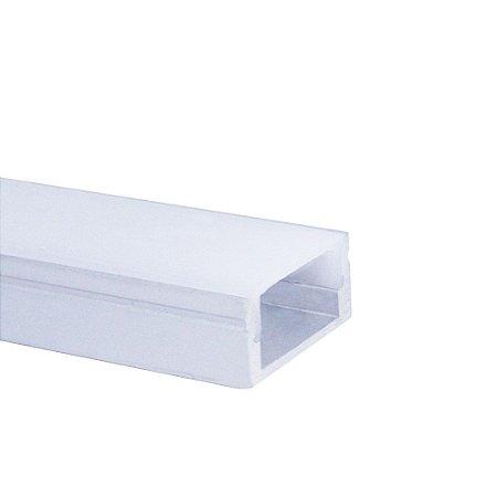 Perfil de Sobrepor 1 Metro Slim Para Fita LED Com Difusor em Acrílico Leitoso - LUM22