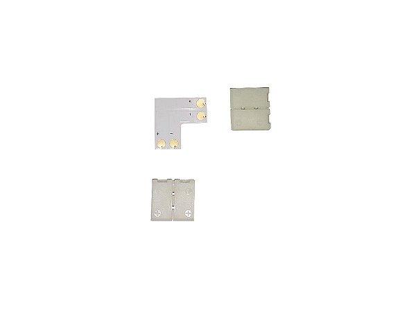 Conector L para Fita Led 2 vias
