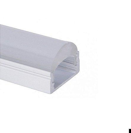 Perfil Sobrepor 2m Slim Fita LED Difusor Transparente - LUM30
