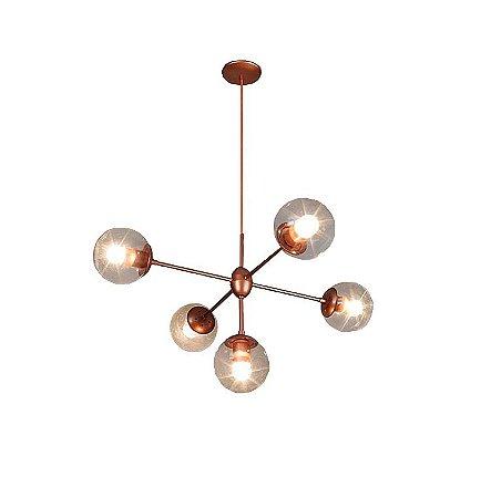 Pendente de teto Lustre linha Bubles Aranha cor Bronze