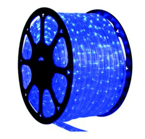 Mangueira de Led Redonda Azul 100 Metros + 5 Conectores