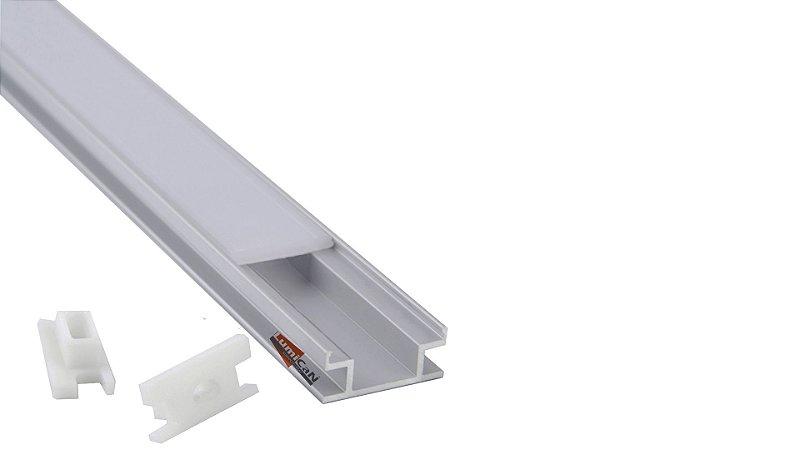 Perfil Embutir em Piso/Solo 2m Fita LED - LUMLF AA