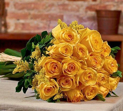 Buquê de rosas amarelas colombianas