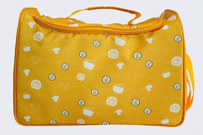 Bolsa Térmica Grande para Viagem Amarela