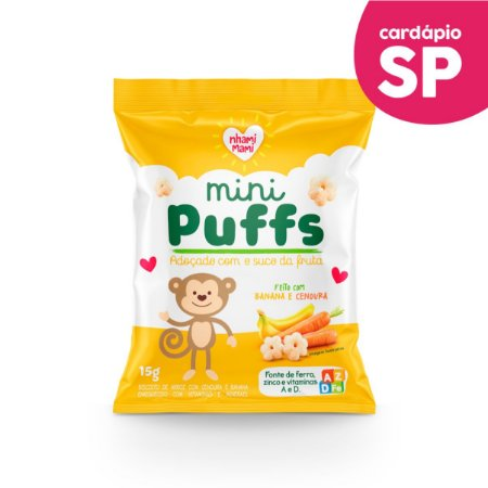 SP | MINI PUFFS  Banana e Cenoura - Nhami Mami