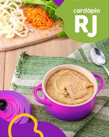RJ | F1 - Papinha de Entrecote, batata yacon e lentilha vermelha