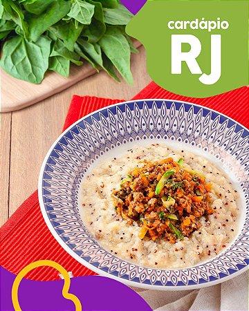 RJ   F3 - Ragu de carne com polenta de quinoa
