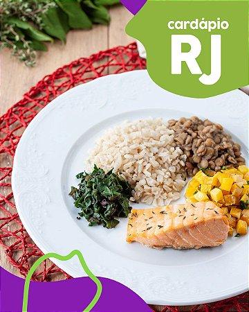 RJ | F3 - Salmão, arroz integral, lentilha, mandioquinha e espinafre