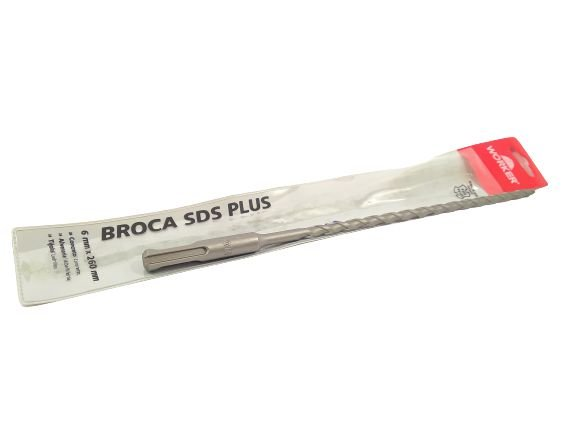 BROCA DE VIDEA SDS PLUS 06X260MM WORKER