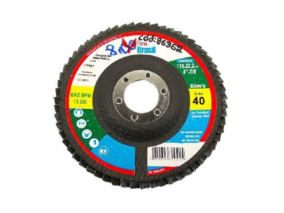 DISCO FLAP 40 GRÃOS 115x22,2MM 4¹/²x7/8 FENIX