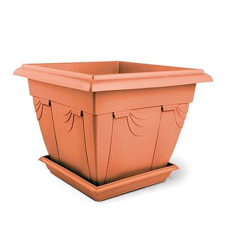 Floreira Plástica Romana 0,9 Litros - Cerâmica  ATENÇÃO: Pode ser adquirido em kits!