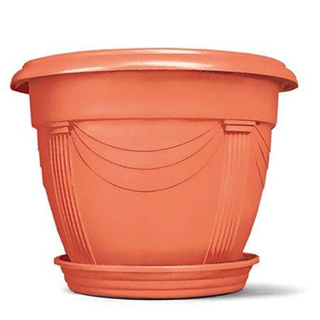 Vaso Plástico Romano Redondo 8,5 Litros - Cerâmica  ATENÇÃO: Pode ser adquirido em kits!