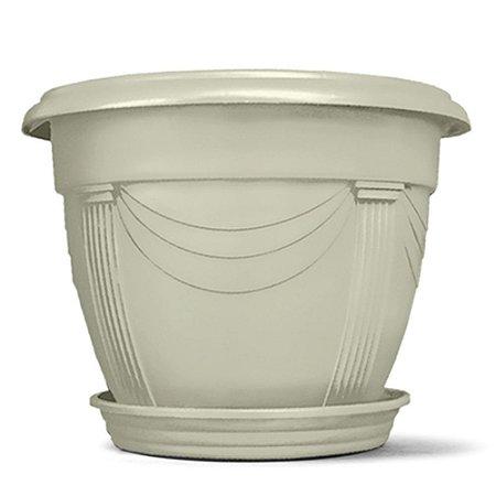 Vaso Plástico Romano Redondo 2 Litros - Mármore