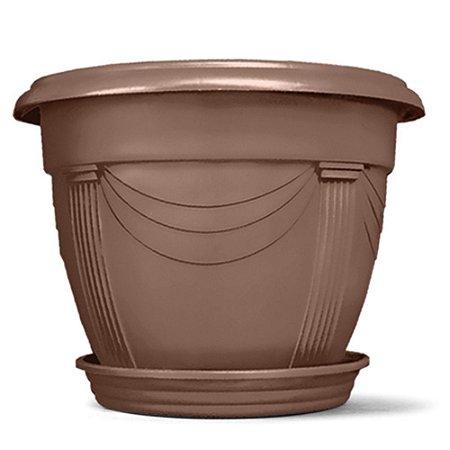 Vaso Plástico Romano Redondo 8,5 Litros - Tabaco ATENÇÃO: Pode ser adquirido em kits!