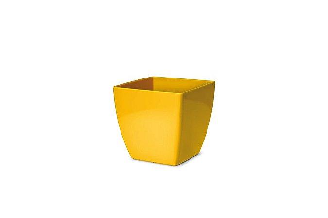 Cachepô N1 Elegance Quadrado Amarelo 11x11