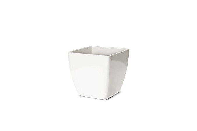 Cachepô N1 Elegance Quadrado Branco 11x11
