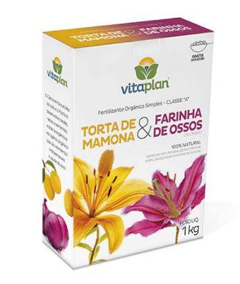 Fertilizante Organomineral Torta de Mamona + Farinha de Ossos - 1Kg