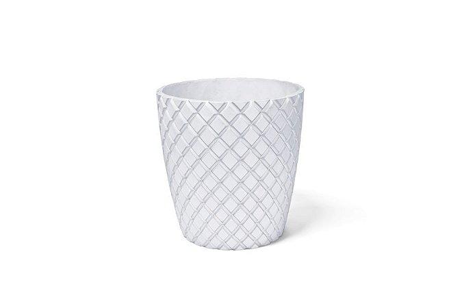 Cachepô Diamante Cônico N20 Branco 21x20