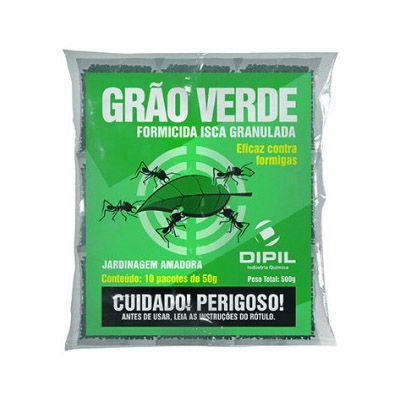 Formicida Isca Granulada - Grão Verde - 500 gramas / 10 pc