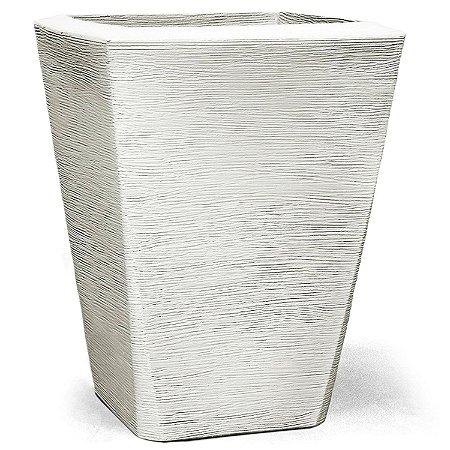 Vaso Grafiato Trapézio N35 Branco 35x30