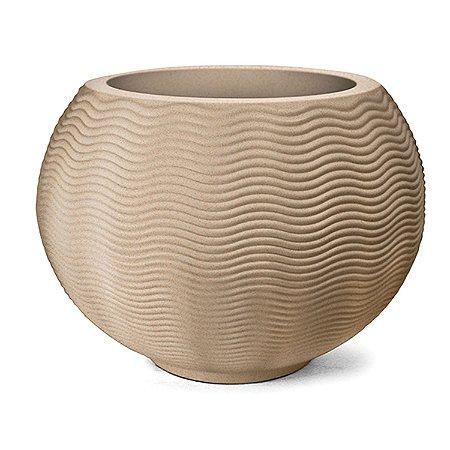 Vaso Ondulado Redondo N50 Areia 52x51