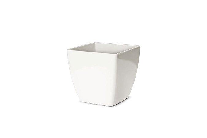 Cachepô N2 Elegance Quadrado Branco 13x13