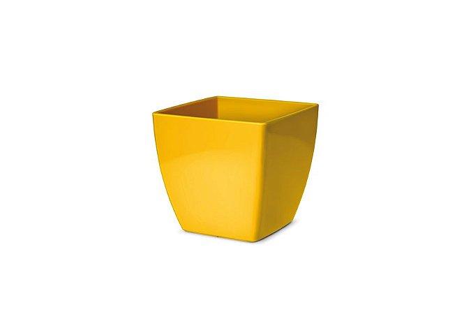 Cachepô N2 Elegance Quadrado Amarelo 13x13