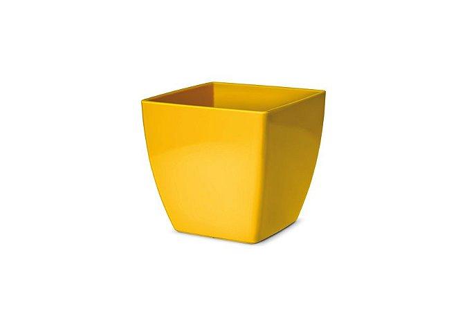 Cachepô N3 Elegance Quadrado Amarelo 15x15