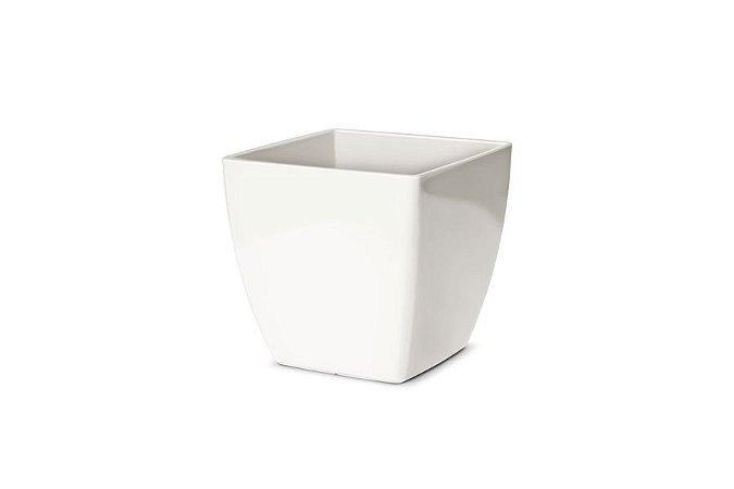 Vaso Cachepô N3 Elegance Quadrado Branco 15x15
