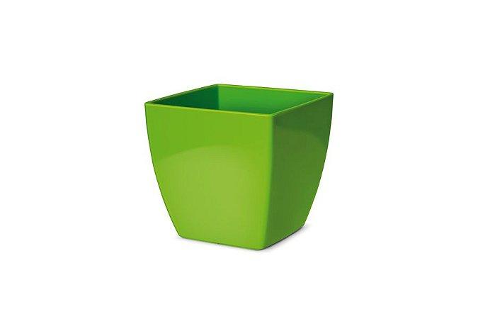 Cachepô N3 Elegance Quadrado Verde Limão 15x15