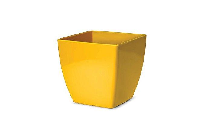 Cachepô N4 Elegance Quadrado Amarelo 16x16